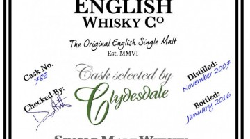 English Whisky Co – English Peated Moscatel (selected by Clydesdale)